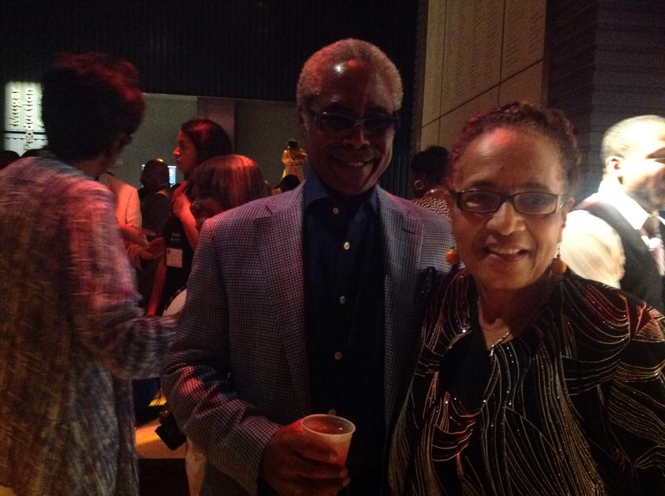 Barbara Reynolds with Ed Lewis, co-founder of Essence.