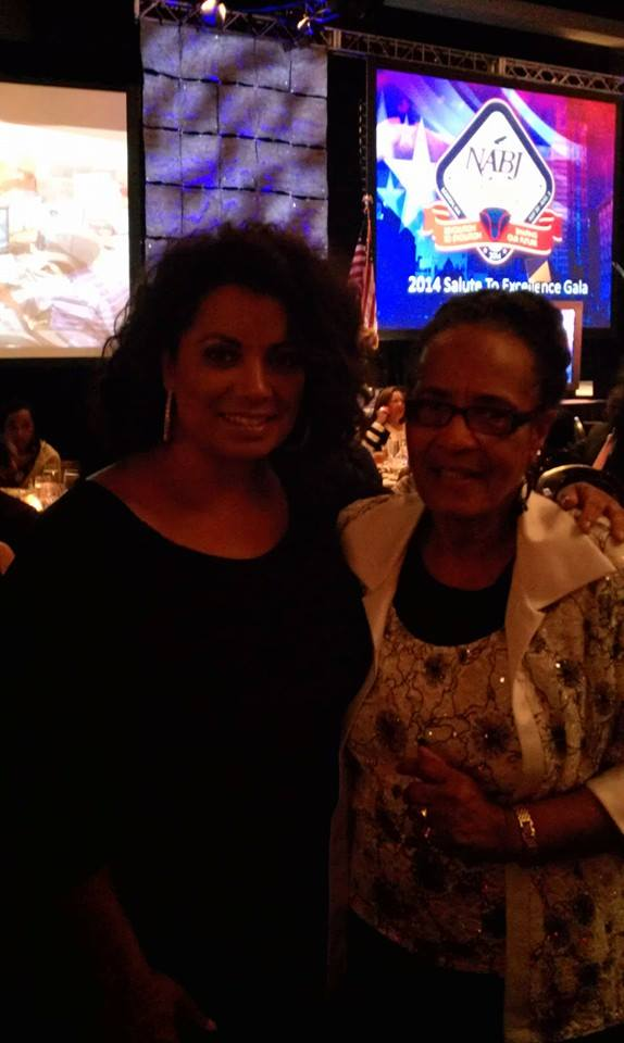 CNN's Michaela Pereira and I share a conversation at the National Black journalist meeting in Boston