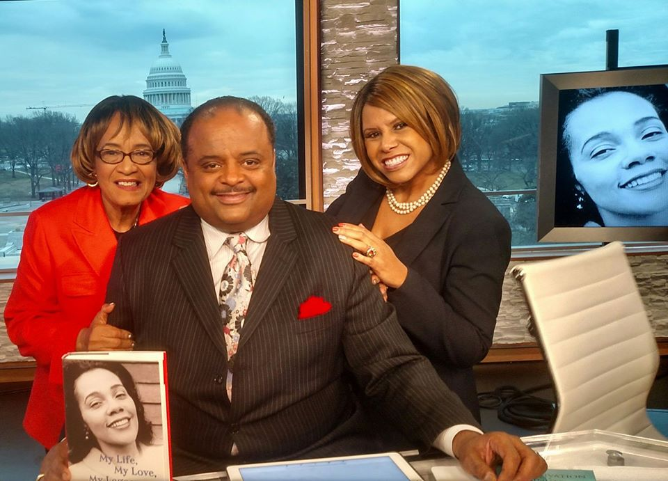 """""""Early Day Show"""" with Roland Martin, host of TV One News and I. Traycee Gales assisted with the book project."""