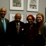 Representative John Conyers and staff. He was the first to introduce the King Holiday Bill in 1969. He introduced it 17 times until it was signed into law.
