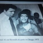 Muhammad Ali and me at a party in Chicago, 1973.